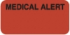 Attention/Alert Labels, MEDICAL ALERT - Fl Red, 1-1/2&#34 X 3/4&#34 (Roll of 250)
