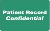 HIPAA Labels, Patient Record Confidential - Green, 4&#34 X 2.5&#34 (Roll of 100)