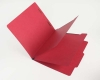 15 Pt. Red Classification Folders, 2/5 Cut ROC Top Tab, Letter Size, 2 Dividers (Box of 25)