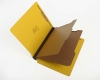 25 pt Pressboard Classification Folders, Full Cut End Tab, Letter Size, 2 Dividers, Yellow (Box of 15)