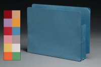 "Color Full End Tab Expansion Pockets, Tyvek Gussets, Letter Size, 3-1/2"" Expansion (Carton of 50)"