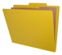 "Type III Pressboard Classification Folders, Top-Tab, Letter Size, 2"" Expansion, 2 Divider (Box of 10)"
