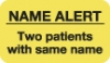 Attention/Alert Labels, Rh NEGATIVE - Fl Chartreuse, 1-1/2&#34 X 7/8&#34 (Roll of 250)