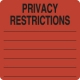 HIPAA Labels, Privacy Restrictions - Red, 2-1/2&#34 X 2-1/2&#34 (Roll of 390)