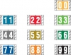 Col&#39R&#39Tab Compatible Numeric Labels, Laminated Stock, 1&#34 X 1-1/2&#34 Individual Numbers - Roll of 500