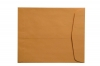 "28lb Brown Kraft Negative Preserver, Open End, Plain - Not Printed, with Flap, 10-1/2"" x 12-1/2"" (Carton of 500)"