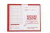 "Nuclear Medicine, Red #185 - Category Insert Jackets, System I, Open Top - 10-1/2"" x 12-1/2"" (Carton of 500)"