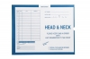 Head & Neck, Process Blue - Category Insert Jackets, System I, Open End - 14-1/4&#34 x 17-1/2&#34 (Carton of 250)