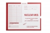 Nuclear Medicine, Red #185 - Category Insert Jackets, System I, Open End - 14-1/4&#34 x 17-1/2&#34 (Carton of 250)