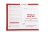 "Nuclear Medicine, Red #185 - Category Insert Jackets, System I, Open End - 10-1/2"" x 12-1/2"" (Carton of 500)"