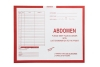 Abdomen, Red #185 - Category Insert Jackets, System II, Open Top - 14-1/4&#34 x 17-1/2&#34 (Carton of 250)