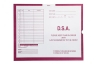 D.S.A., Magenta #233 - Category Insert Jackets, System I, Open End - 14-1/4&#34 x 17-1/2&#34 (Carton of 250)
