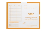 Bone, Yellow #115 - Category Insert Jackets, System II, Open End - 14-1/4&#34 x 17-1/2&#34 (Carton of 250)