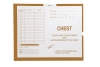 Chest, Briar #131 - Category Insert Jackets, System II, Open End - 14-1/4&#34 x 17-1/2&#34 (Carton of 250)