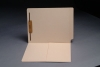 14 pt Manila Folders, Full Cut End Tab, Letter Size, 1/2 Pocket Inside Front, Fastener Pos #1 (Box of 50)