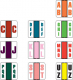 POS Compatible Random Alpha Labels, Laminated Stock, 1-1/2&#34 X 1-1/2&#34 Individual Letters - Roll of 500