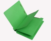 15 Pt. Green Classification Folders, Full Cut End Tab, Letter Size, 2 Dividers (Box of 25)
