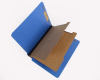 25 pt Pressboard Classification Folders, Full Cut End Tab, Letter Size, 2 Dividers, Royal Blue (Box of 15)