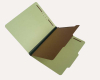 25 Pt. Pressboard Classification Folders, 2/5 Cut ROC Top Tab, Letter Size, 1 Divider, Peridot Green (Box of 20)