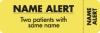 Attention/Alert Labels, NAME ALERT - Fl Chartreuse, 3&#34 X 1&#34 (Roll of 250)