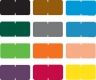 Tab Compatible Solid Color Labels, Vinyl Kimdura Stock, 1/2&#34 X 1&#34 Individual Colors - Roll of 1000