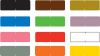 Barkley Compatible Solid Color Labels, Laminated Stock, 1/2&#34 X 1-1/2&#34 Individual Colors - Roll of 500