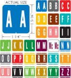 "GBS Compatible Alpha Labels, Laminated Stock, 1-5/16"" X 1-1/4"" Individual Letters - Roll of 250"
